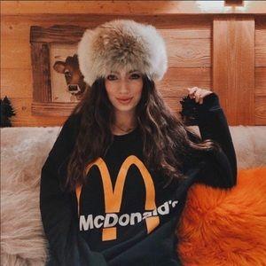 NWT Zara unisex McDonald's sweater SZ L